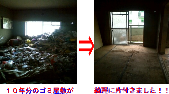 ごみ部屋の処分画像