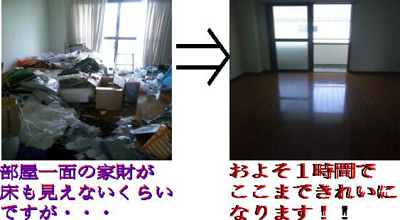 部屋のゴミ回収と処分の前後から清掃まで